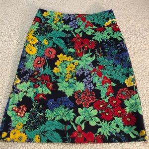 Talbots Floral Printed Skirt